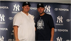 Christian Lopez with Derek Jeter